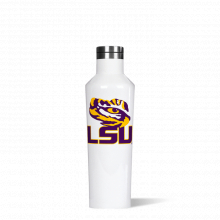 Canteen 16oz Gloss White-  LOUISIANA ST U- Big Logo by Corkcicle