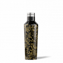 Rifle Paper Canteen - 16oz Gloss Black - Queen Anne by Corkcicle