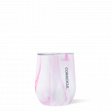 Stemless - 12oz Pink Marble