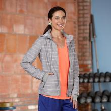 Women's Zip To It Striped Jacket by R Gear