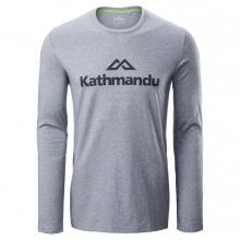 Logo Mens L/S Tee by Kathmandu