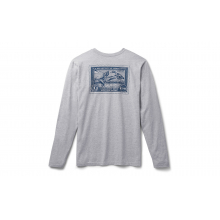 Duck Stamp Long Sleeve T-Shirt - Heather Gray - L