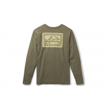 Duck Stamp Long Sleeve T-Shirt - Military Green - M