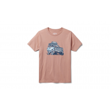 Kids Adventure Vehicle Short Sleeve T-Shirt - Ash Rose - L