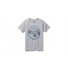 Kids Starry Night Short Sleeve T-Shirt - Heather Gray - L