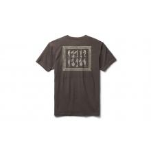 Trout Lure Short Sleeve T-Shirt - Espresso - XL