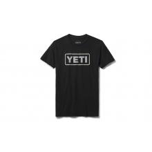Womens Badge Logo Short Sleeve T-Shirt - Black / Gray - L