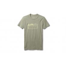 Womens Bear Badge Short Sleeve T-Shirt - Light Olive - L