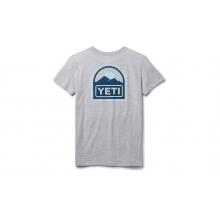 Womens Explorer Badge Short Sleeve T-Shirt - Heather Gray - L