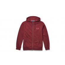 Brushed Fleece Hoodie Full Zip - Harvest Red