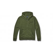 French Terry Hoodie Full Zip - Highlands Olive