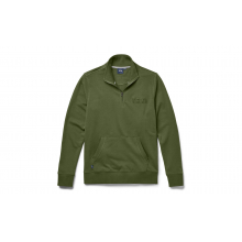 French Terry Quarter Zip Pullover - Highlands Olive