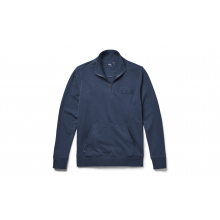 French Terry Quarter Zip Pullover - Navy