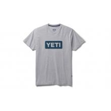 Premium Logo Badge Short Sleeve T-Shirt - Gray / Navy by YETI