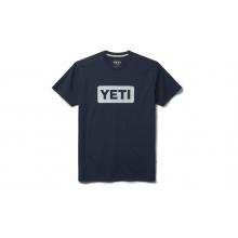 Premium Logo Badge Short Sleeve T-Shirt - Navy / White