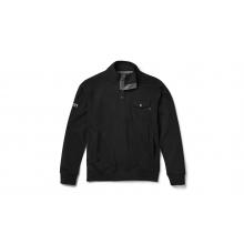 Brushed Fleece Mock Neck Pullover - Black - L