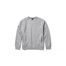 Brushed Fleece Crew Neck Pullover - Gray - L