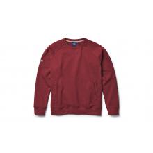 Brushed Fleece Crew Neck Pullover - Harvest Red - XS