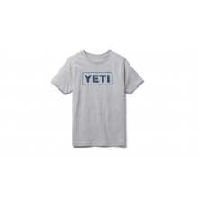 Kids Badge Logo Short Sleeve T-Shirt - HEATHER Gray - S by YETI in Chelan WA