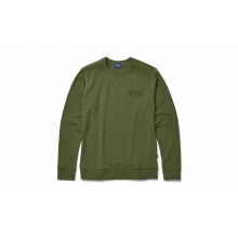 French Terry Crew Neck Pullover - Highlands Olive