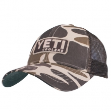 YETI Custom Camo Trucker Hat with Patch by Yeti Coolers in Benton Tn