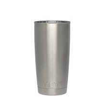 YETI 20oz Stainless Steel Vacuum Insulated Rambler w/ Lid by Yeti Coolers in Iowa City Ia