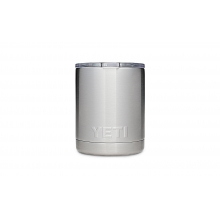 Rambler 10Oz Lowball W/ Lid - Stainless Steel by YETI