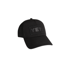 Black on Black Patch Trucker Hat by YETI
