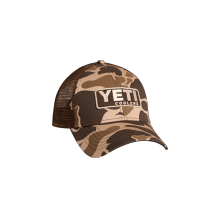 Custom Camo Trucker Hat with Patch by YETI in Corte Madera CA