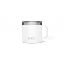 Rambler 14oz Mug White by YETI in Grand Blanc MI