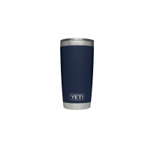 Rambler Tumbler with Lid - 20 oz - Navy by YETI in Roseville Ca
