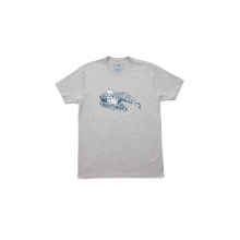 Fishing Bear T-Shirt - Gray