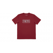 YETI Badge Logo T-Shirt - Cardinal