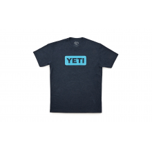 YETI Badge Logo T-Shirt - Reef Blue