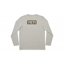Badge Logo Long Sleeve T-Shirt - Gray