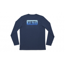 YETI Badge Logo Long Sleeve T-Shirt - Navy