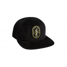 Cactus Snake Corduroy Full Panel Hat - Black