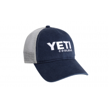 Washed Low-Pro Trucker Hat - Navy/White