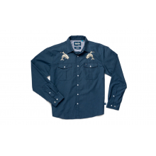 Howler Brothers For Gaucho Tarpon Rider Snapshirt - Denim - XL