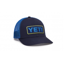 Mid-Profile Badge Trucker Hat - Navy / Chartreuse by YETI in Corte Madera CA