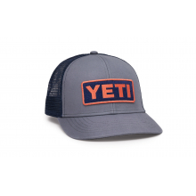 Mid-Profile Badge Trucker Hat - Gray / Coral by YETI in Corte Madera CA