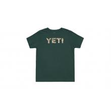 Kids Desert Icon Short Sleeve T-Shirt - Forest Green - M by YETI