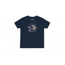 Kids Fishing Rod Short Sleeve T-Shirt - Midnight Navy - M by YETI