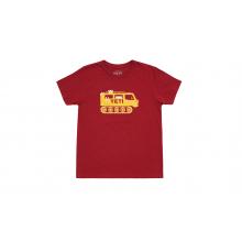 Kids Snow Cat Short Sleeve T-Shirt - Cardinal