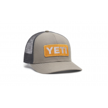 Mid-Pro Logo Badge Trucker Hat - Gray-Yellow