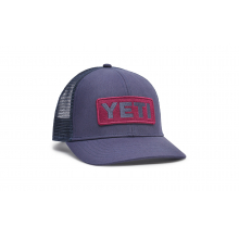 Mid-Pro Logo Badge Trucker Hat - Navy-Coral