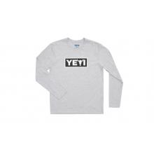 Yeti Steer Long Sleeve Shirt - Heather Gray - M by YETI