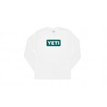 Badge Logo Long Sleeve T-Shirt - River / White - XXL