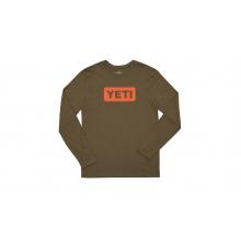 Badge Logo Long Sleeve T-Shirt - Clay / Olive - S