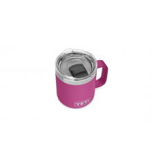 Rambler 10 oz Stackable Mug with Magslider Lid - Prickly Pear Pink